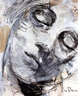 """""""Dreamer"""" akryyli ja pastelliliitu kankaalle, 120x100, 2016"""