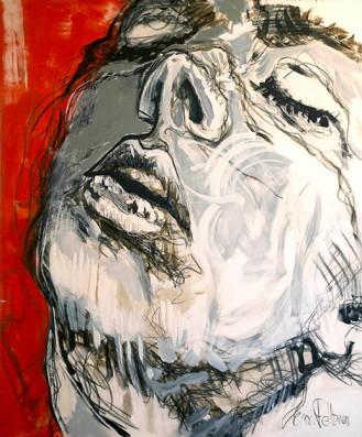 """""""Bliss"""" Akryyli ja pastelliliitu kankaalle, 120x100, 2016"""